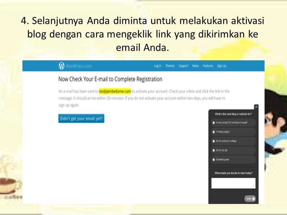 3. Isi formulir yang telah tersedia. Jangan lupa untuk mengganti email address-nya ya!! kemudian klik Create Blog.