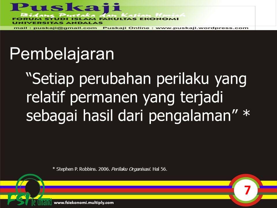 8 IPK Lingkungan Waktu Belajar Keaktifan dalam Perkuliahan Ketersediaan Buku Teks Belajar Kelompok & DIskusi www.fsiekonomi.multiply.com