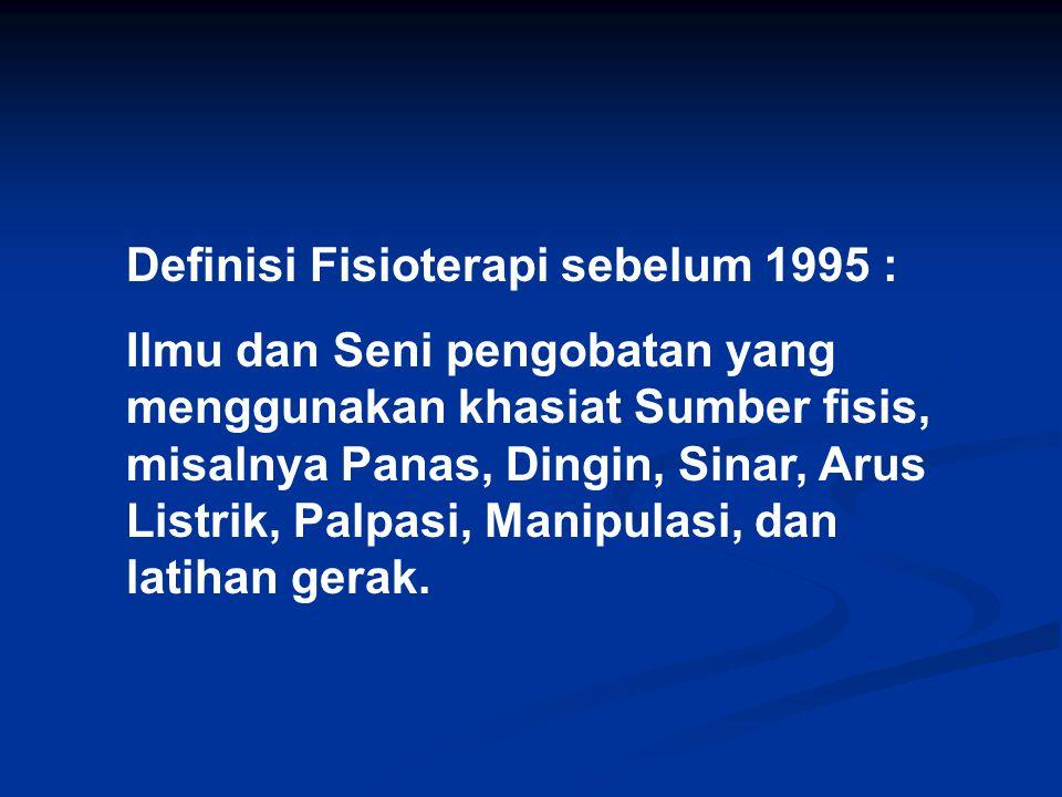 Di Eropa Sejak Akhir Abad 18 di Belanda 1887 di Amerika 1917 di Indonesia 1965 Modern Physical Therapy