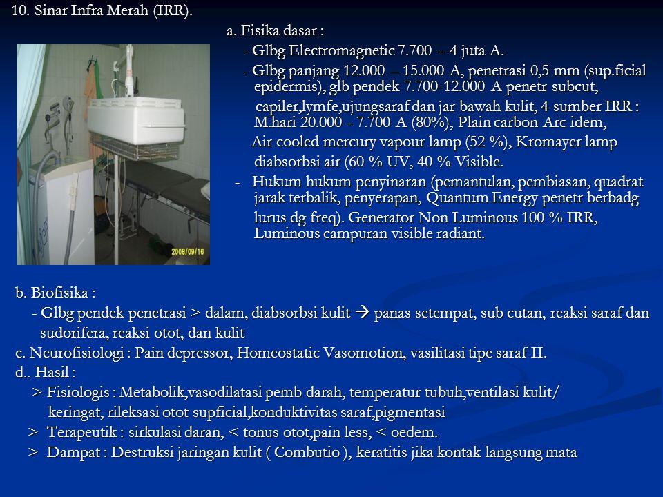 b. Biofisika : - Freq tinggi memfasilitasi jar. Kls 1.laser tdk merusak, kls 2. merusak jar stlh 1000 ' kontak kls 3, radiasi langsung merusak mata da