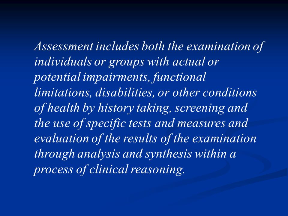 Proses Fisioterapi Assesment ( Pengkajian ) Assesment ( Pengkajian ) Diagnose ( Diagnosa ) Diagnose ( Diagnosa ) Planning ( Perencanaan ) Planning ( P