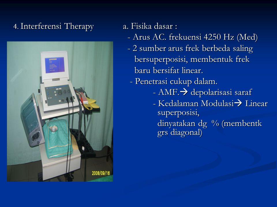d. Hasil - Efek Fisiologi : Metabolik,sirkulas darah - Efek terapeutik : relaksasi, sequnder pain dumping, atasi lengket antar jaringan, collagen form