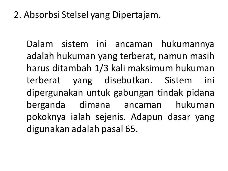 2.Absorbsi Stelsel yang Dipertajam.