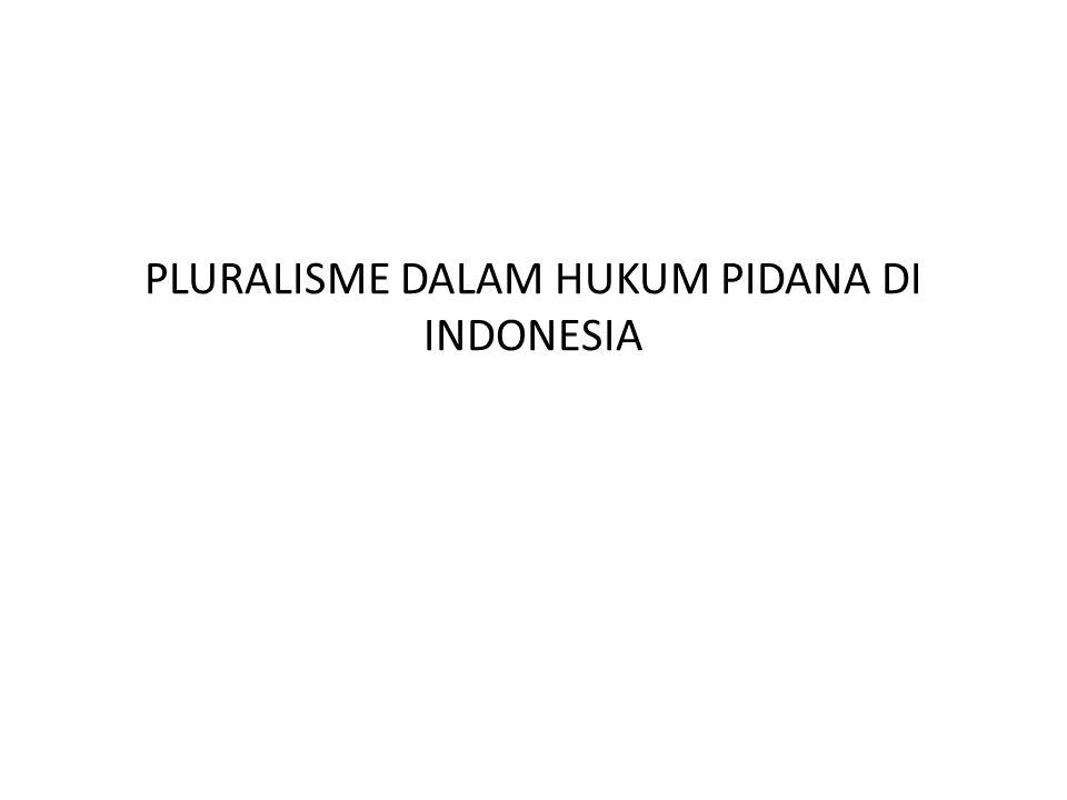 PLURALISME DALAM HUKUM PIDANA DI INDONESIA