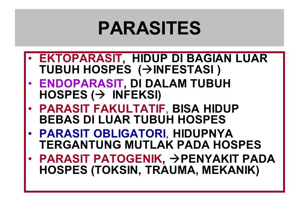 PARASIT INSIDENTAL : MANUSIA BUKAN HOSPES YANG BIASANYA.