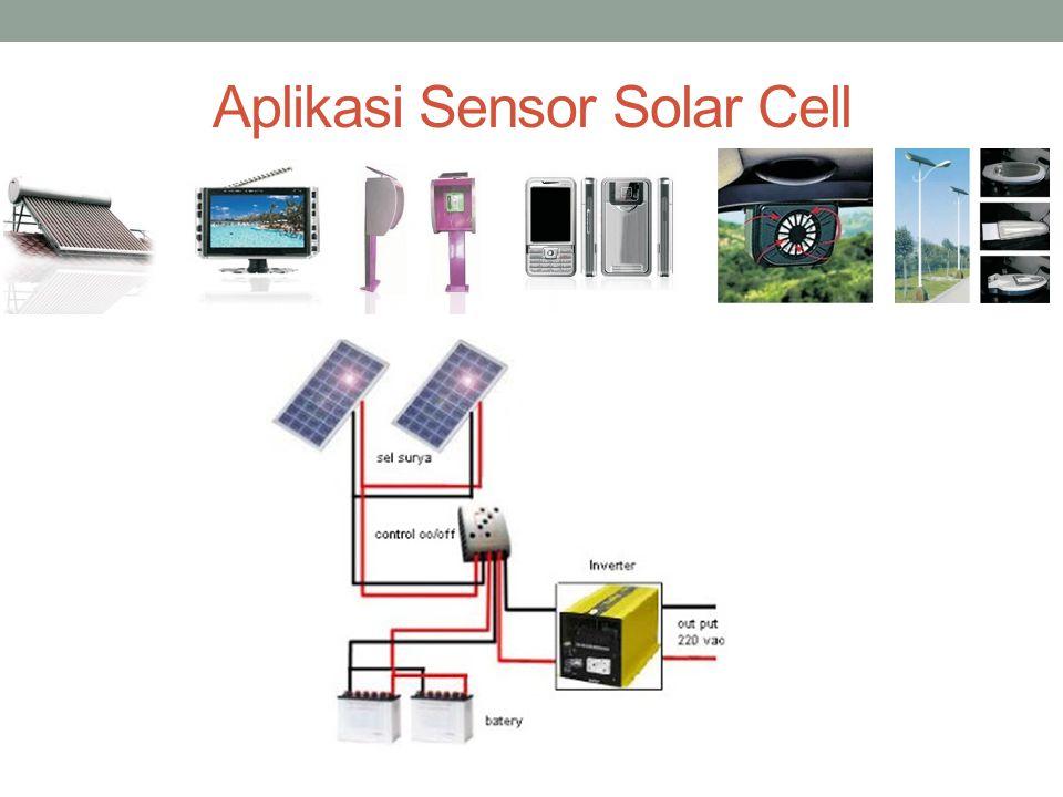 Fotovoltaic (Solar Cell/Fotocell) Berfungsi untuk mengubah sinar matahari menjadi arus listrik DC.