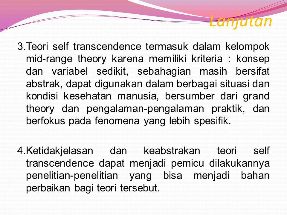 KESIMPULAN 1.Kelebihan  Baik digunakan untuk menyelesaikan berbagai masalah yang terkait dengan masalah psikososial.  Faktor spiritual cukup diperti