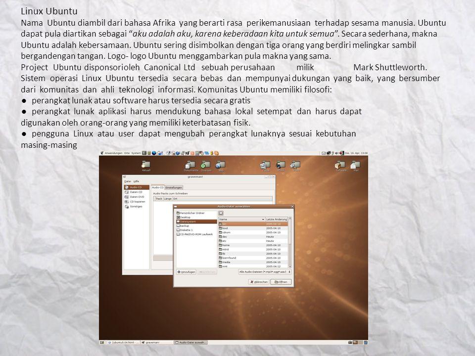 Linux Mandriva Linux Mandriva pada mulanya bernama Mandrake.