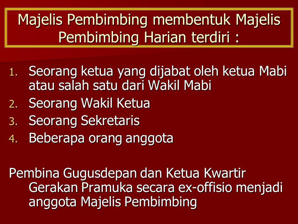 Majelis Pembimbing membentuk Majelis Pembimbing Harian terdiri : 1.