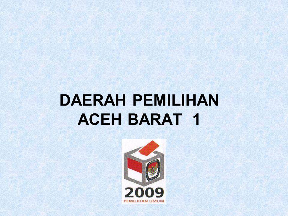 CALON TERPILIH ANGGOTA DPRD KABUPATEN ACEH BARAT PEMILIHAN UMUM TAHUN 2009 DAERAH PEMILIHAN : ACEH BARAT 1 NAMA TEMPAT/TGL.