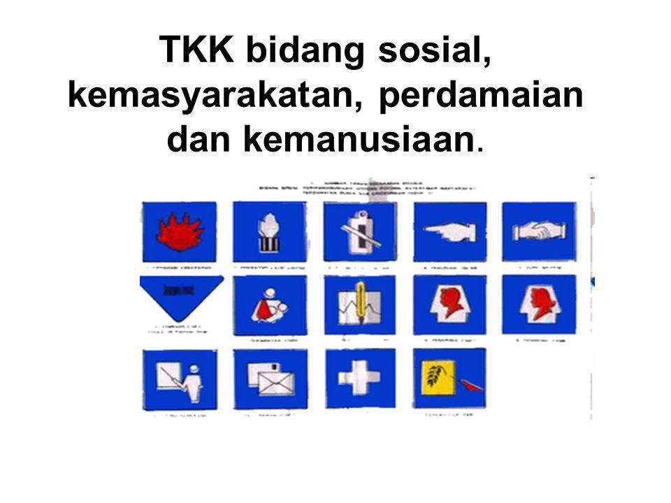 TKK bidang sosial, kemasyarakatan, perdamaian dan kemanusiaan.