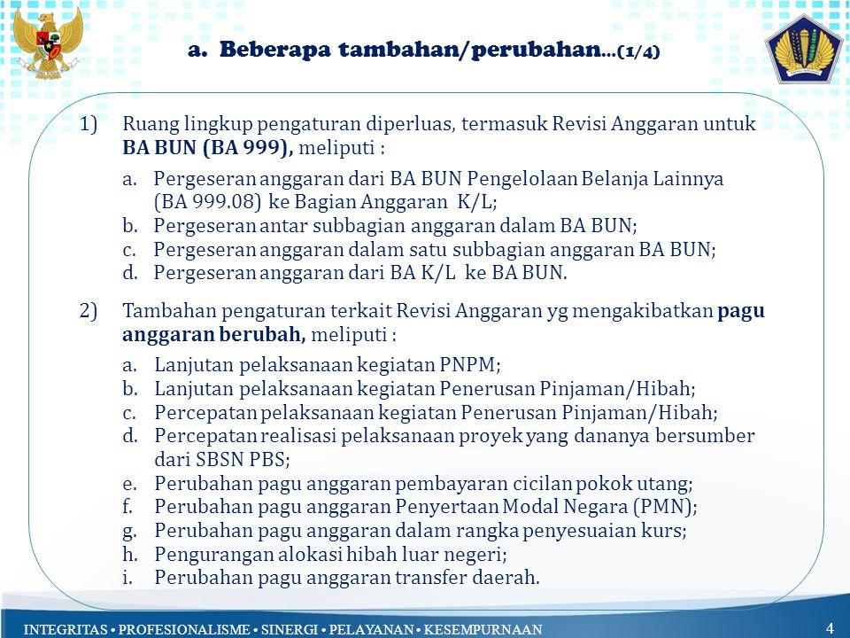 INTEGRITAS PROFESIONALISME SINERGI PELAYANAN KESEMPURNAAN 4 a.