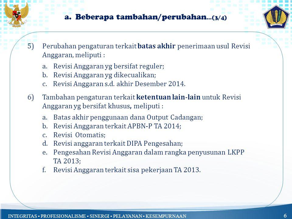 INTEGRITAS PROFESIONALISME SINERGI PELAYANAN KESEMPURNAAN 6 a.