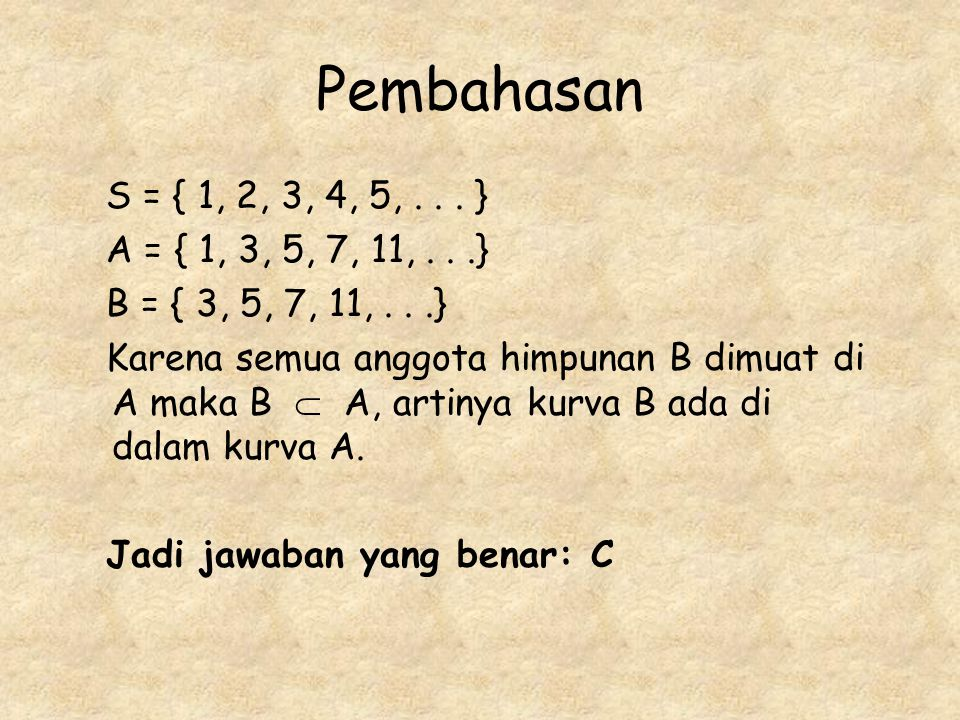 Pembahasan S = { 1, 2, 3, 4, 5,...