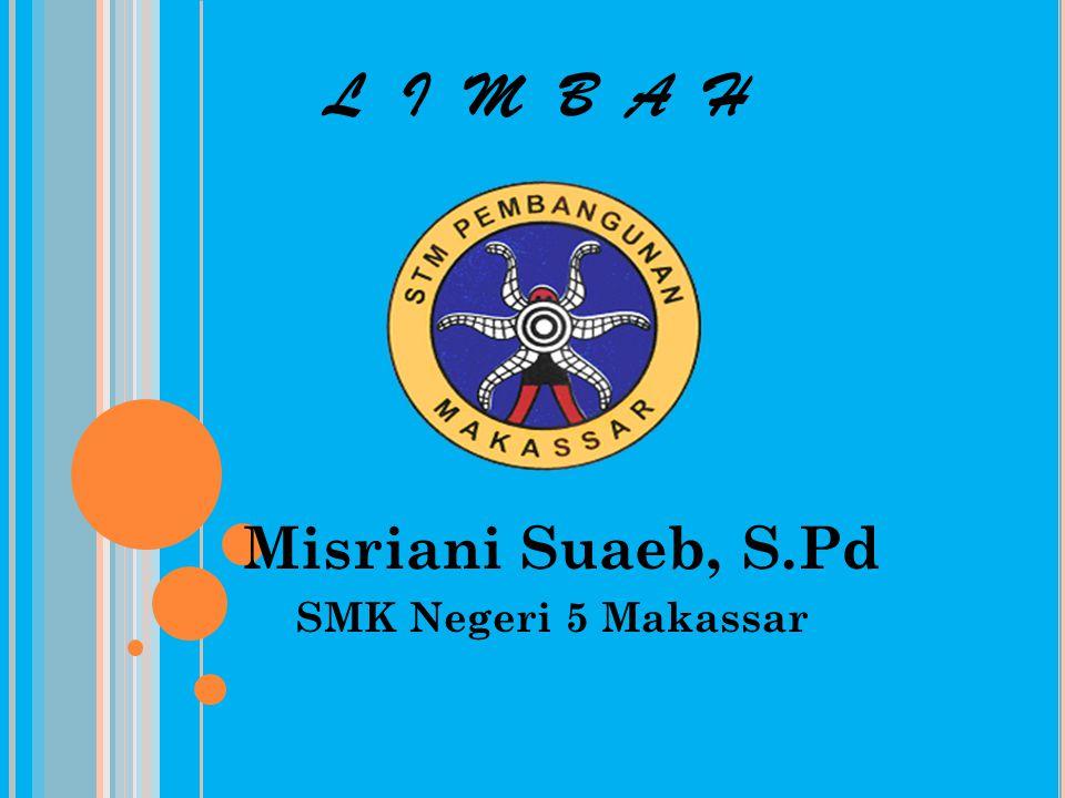 L I M B A H Misriani Suaeb, S.Pd SMK Negeri 5 Makassar