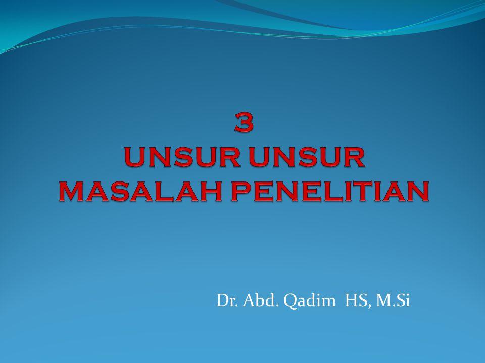 Dr. Abd. Qadim HS, M.Si