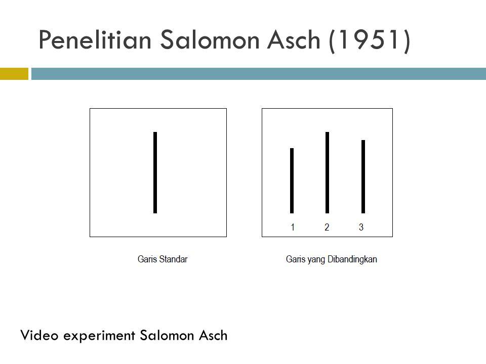 Penelitian Salomon Asch (1951)