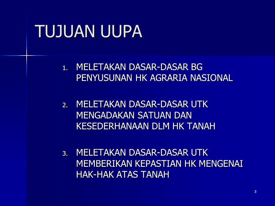 4 DASAR HK AGRARIA NAS DLM UUPA 1.Asas kebangsaan (Ps 1 (1), (2), (3) ) 2.