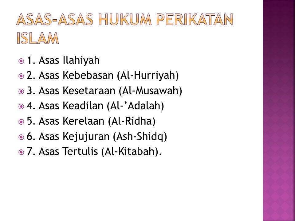 1. Asas Ilahiyah  2. Asas Kebebasan (Al-Hurriyah)  3.