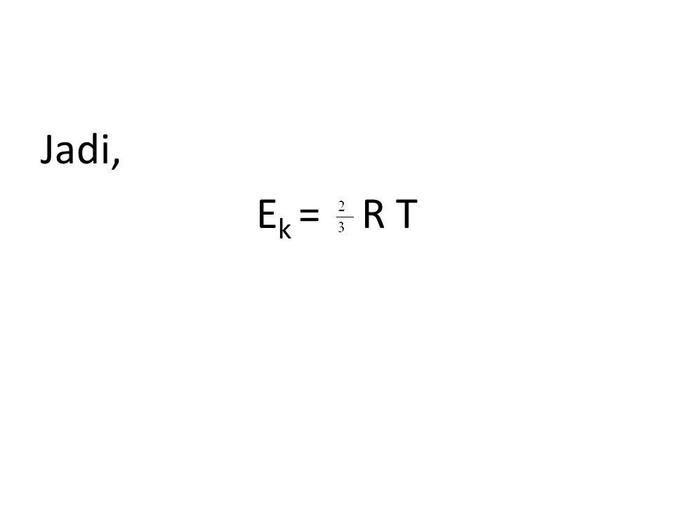 Jadi, E k = R T