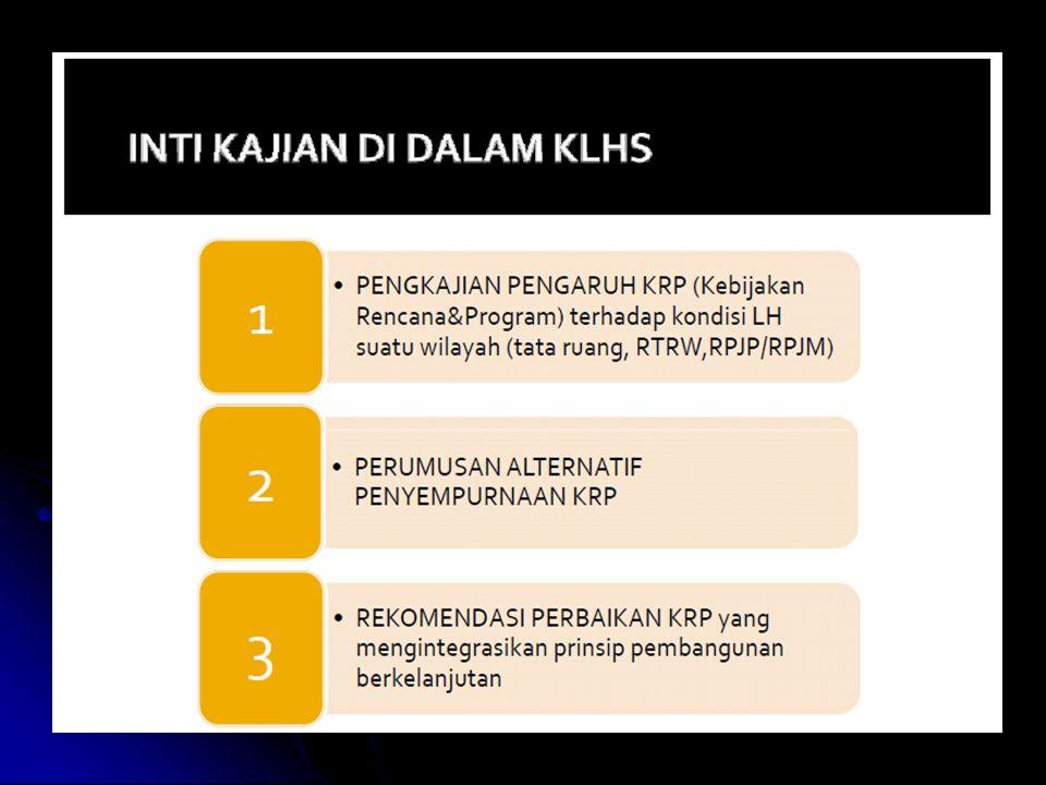 INSTRUMEN PENCEGAHAN PENCEMARAN/KERUSAKAN a.KLHS; b.