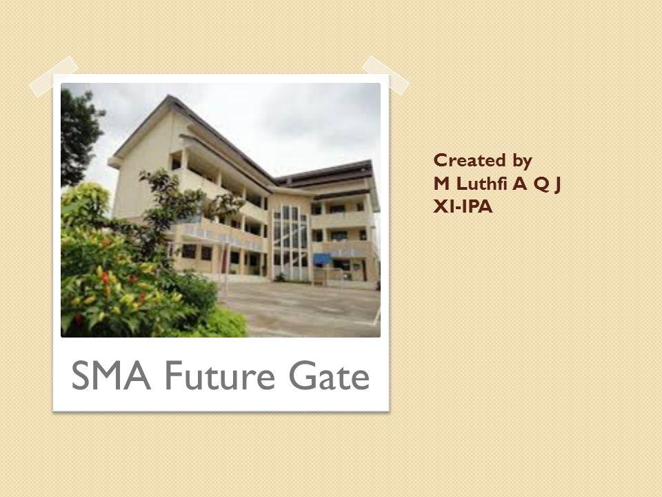 Created by M Luthfi A Q J XI-IPA SMA Future Gate