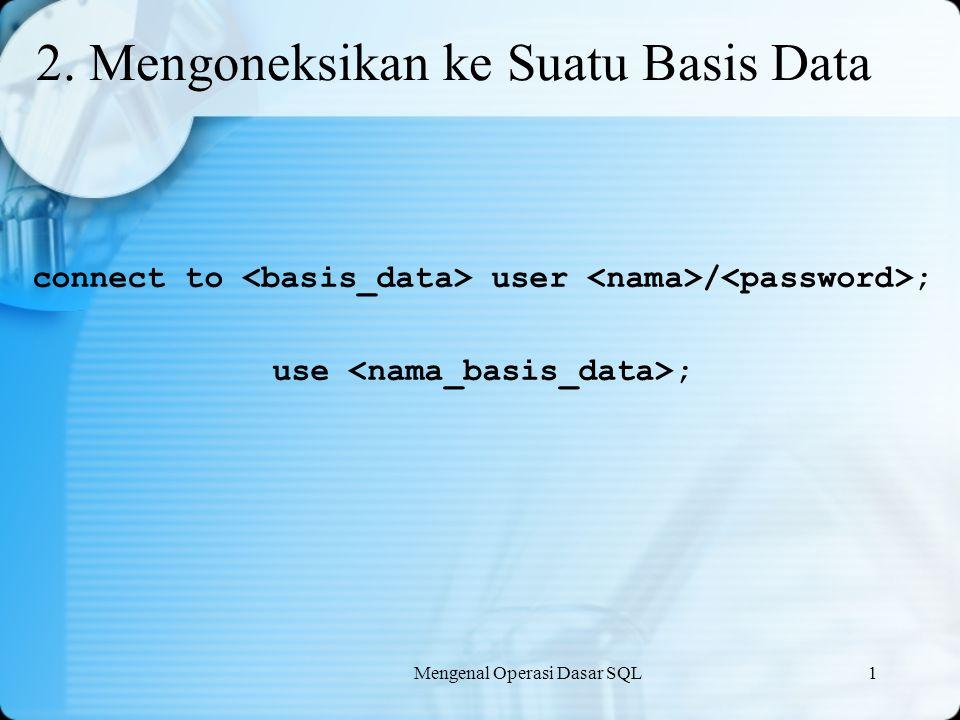 Mengenal Operasi Dasar SQL1 3.