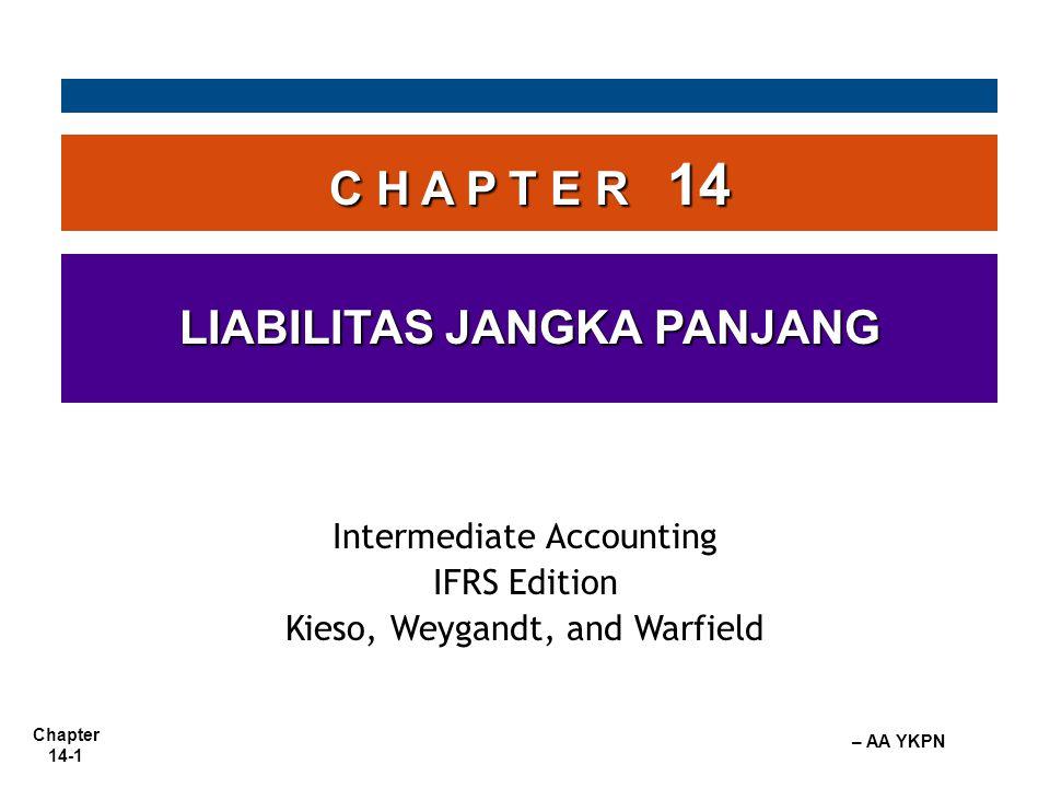 Chapter 14-2 – AA YKPN Utang Obligasi Liabilitas Jangka Panjang adanya kemungkinan pengeluaran sumber daya sebagai akibat dari kewajiban saat ini yang tidak akan jatuh tempo dalam waktu 1 tahun atau satu siklus operasi mana yang lebih panjang.