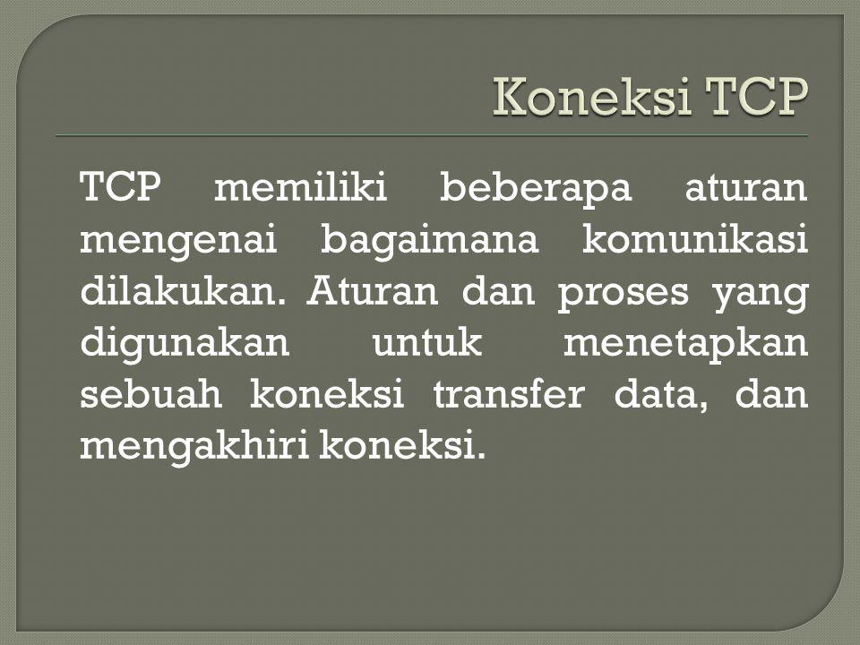 TCP memiliki beberapa aturan mengenai bagaimana komunikasi dilakukan.