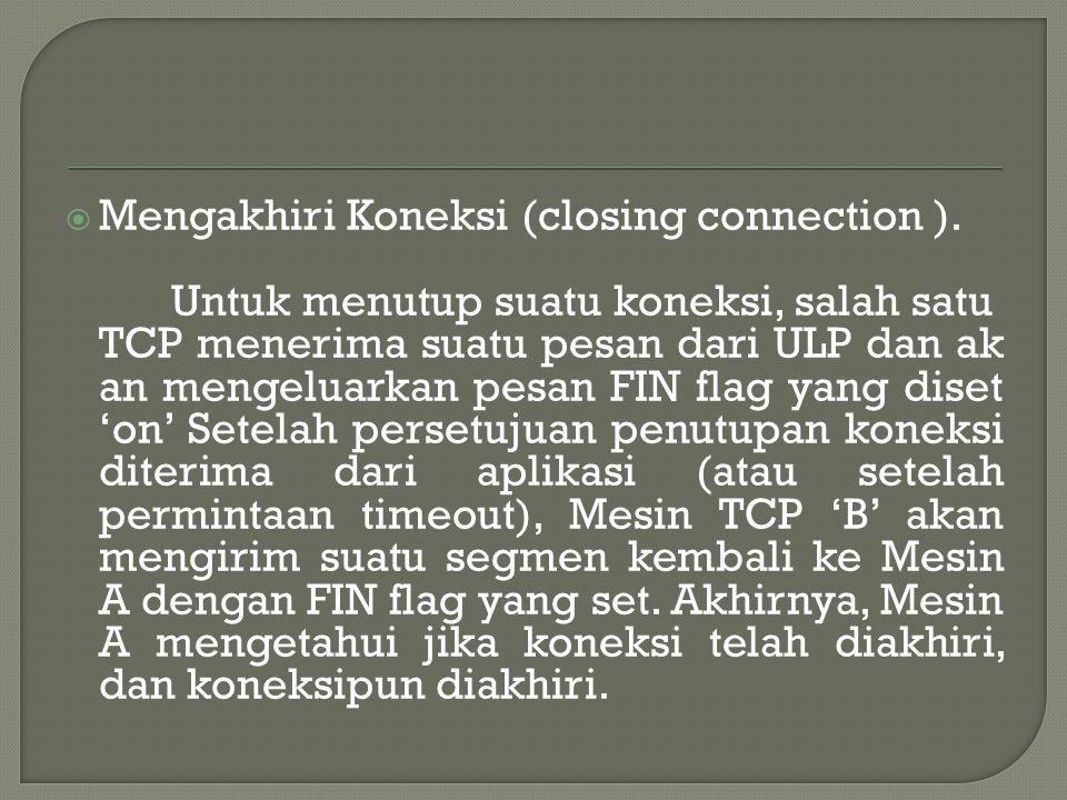  Mengakhiri Koneksi (closing connection ).