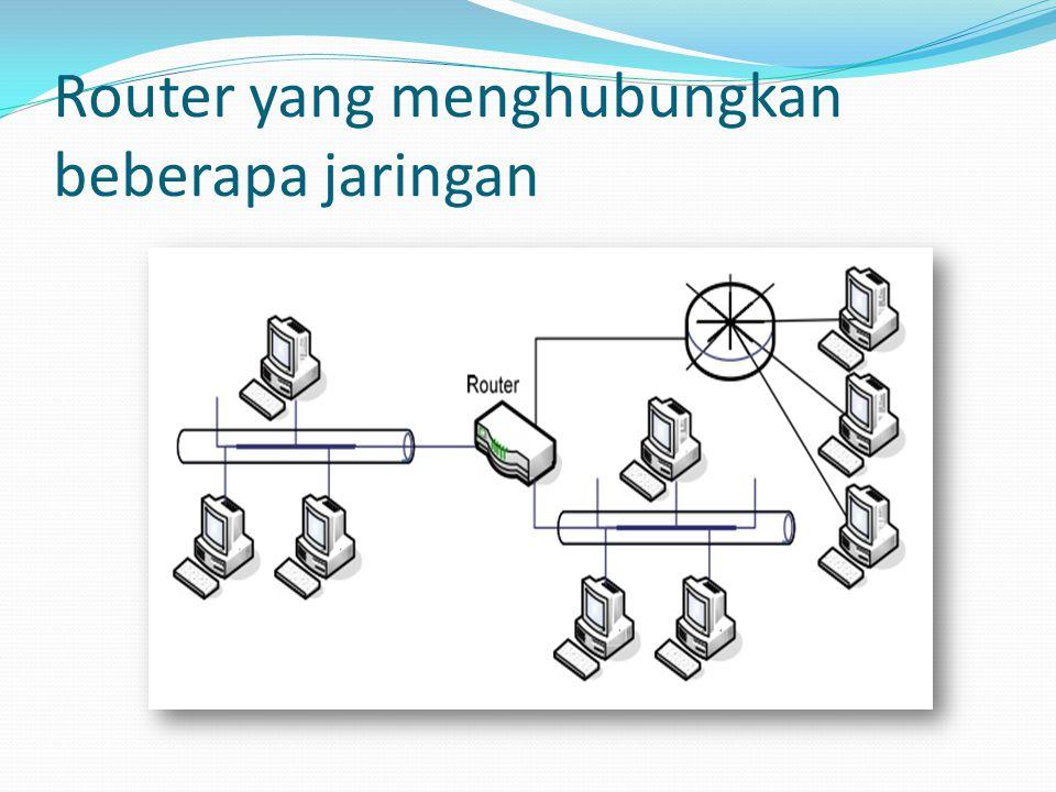 Router yang menghubungkan beberapa jaringan