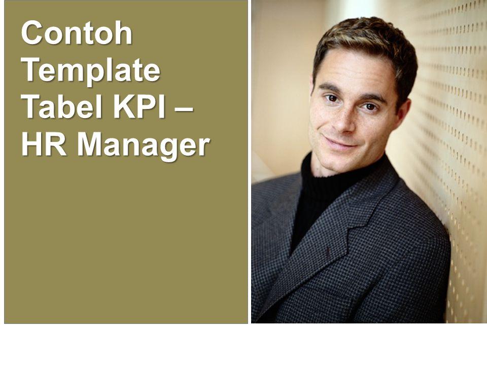 Contoh Template Tabel KPI – HR Manager