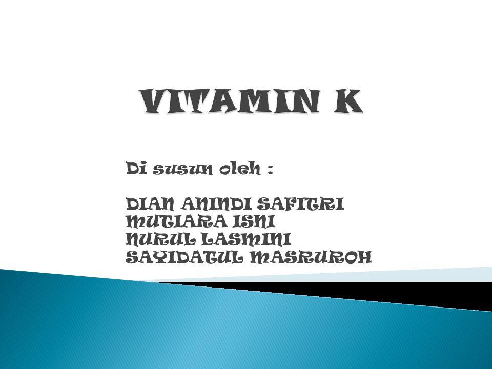 Vitamin adalah sekelompok senyawa organik yang dibutuhkan dalam jumlah kecil yang memiliki peran penting dalam pengaturan metabolisme yang tidak dapat dihasilkan oleh tubuh.