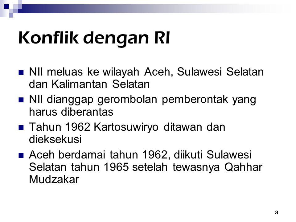 4 Struktur NII Kartosuwiryo Komandemen Perang Seluruh Indonesia (KPSI) Komandemen Perang Wilayah Besar (KPWB) Komandemen Perang Wilayah (KW)  KW1 Priangan Utara  KW2 Jawa Tengah  KW3 Jawa Timur  KW4 Sulawesi  KW5 Kalimantan  KW6 Aceh  KW7 Priangan Selatan