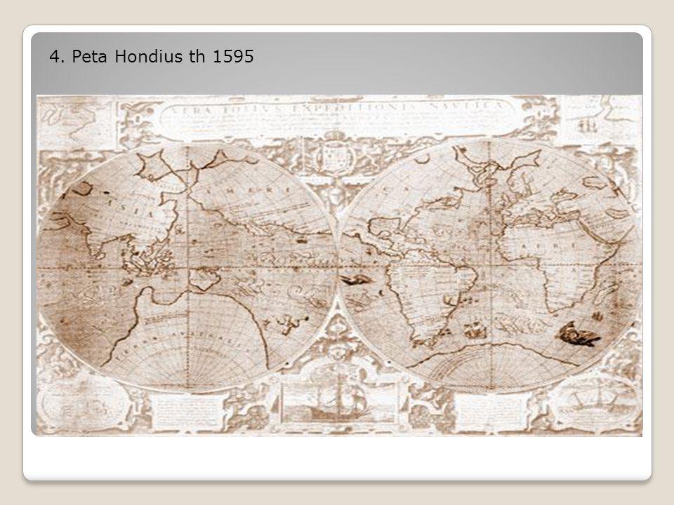4. Peta Hondius th 1595