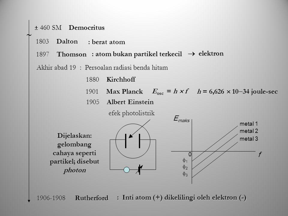 Persamaan Schrödinger Bebas Waktu Aplikasi persamaan Schrödinger dalam banyak hal hanya berkaitan dengan energi potensial, yaitu besaran yang hanya merupakan fungsi posisi Satu dimensi Tiga dimensi Oleh karena itu jika persamaan tersebut diupayakan tidak merupakan fungsi yang bebas waktu agar penanganannya menjadi lebih sederhana Jika kita nyatakan: maka dapat diperoleh sehingga