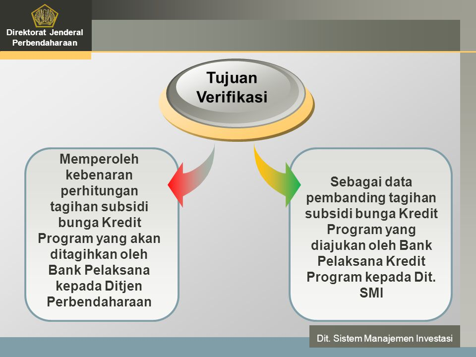 LOGO Dokumen Sumber Verifikasi Direktorat Jenderal Perbendaharaan Dit.