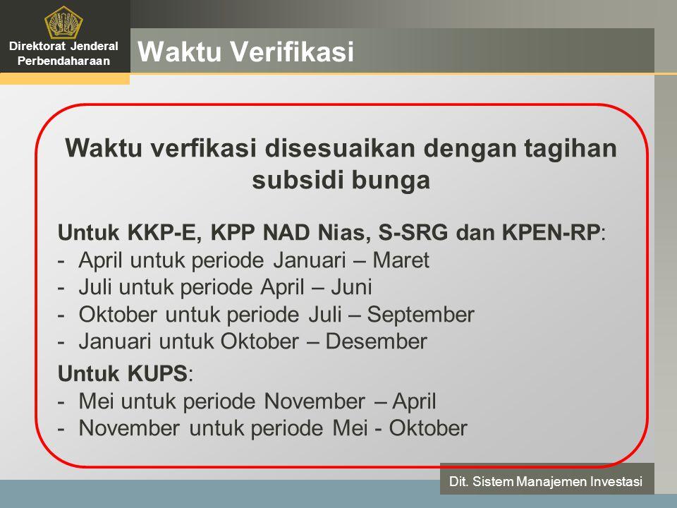 LOGO Waktu Verifikasi Direktorat Jenderal Perbendaharaan Dit.