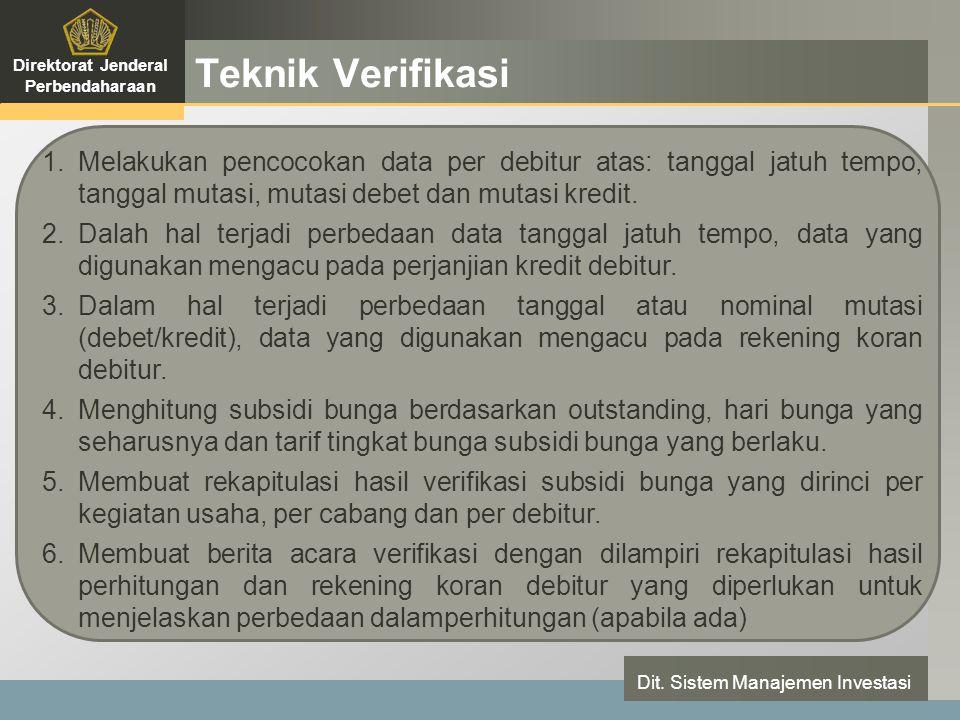 LOGO Teknik Verifikasi Direktorat Jenderal Perbendaharaan Dit.