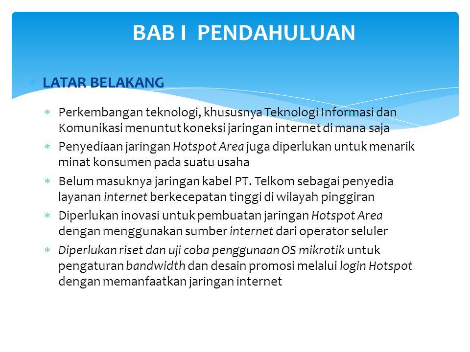 RUMUSAN MASALAH 1.Jaringan internet berbasis kabel dari PT.
