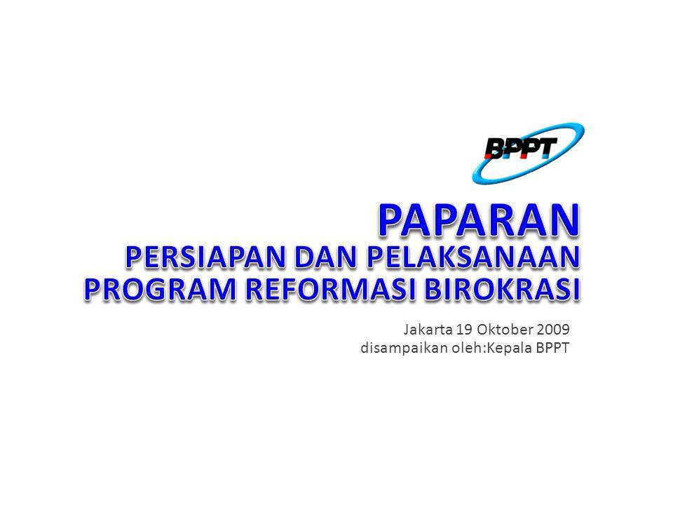 Jakarta 19 Oktober 2009 disampaikan oleh:Kepala BPPT