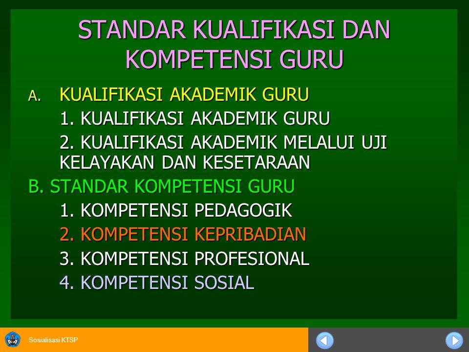 Sosialisasi KTSP lanjutan c.Program Pembelajaran 1)Sekolah/Madrasah menjamin mutu kegiatan pembelajaran untuk setiap mata pelajaran dan program pendidikan tambahan yang dipilihnya.