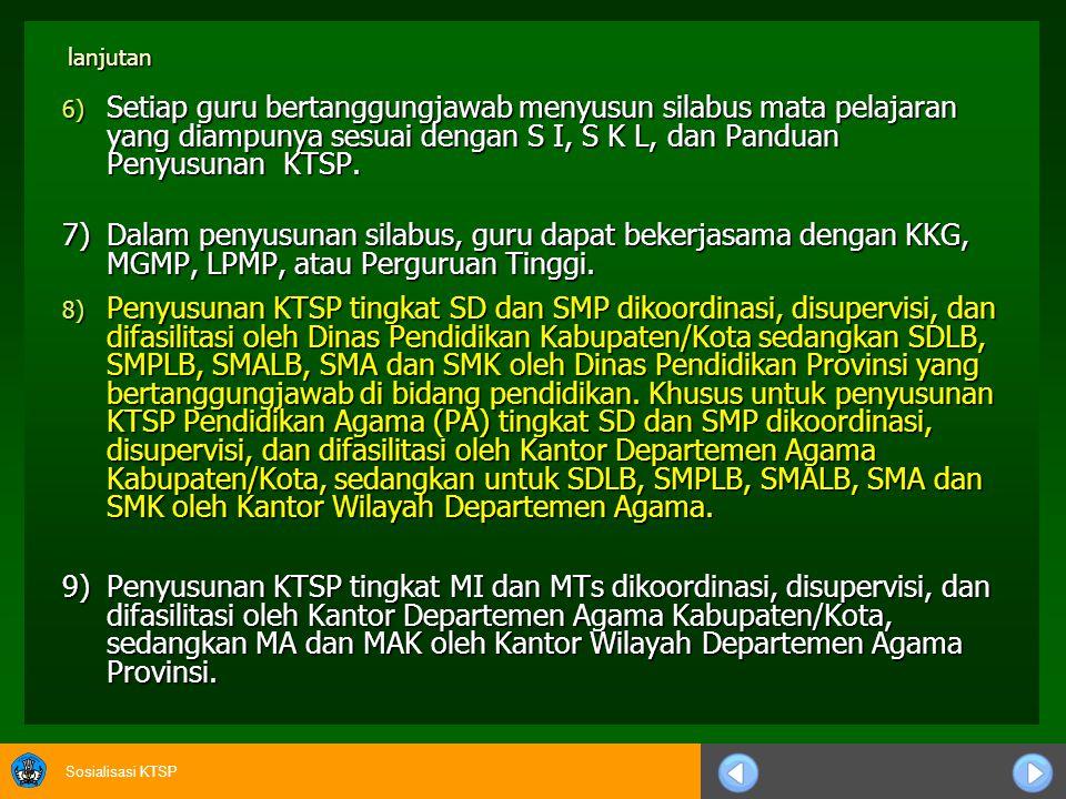 Sosialisasi KTSP 5.