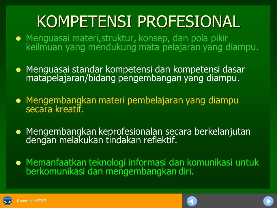 Sosialisasi KTSP 10)Seperangkat metode penilaian perlu disiapkan dan digunakan secara terencana untuk tujuan diagnostik, formatif dan sumatif, sesuai dengan metode/strategi pembelajaran yang digunakan.