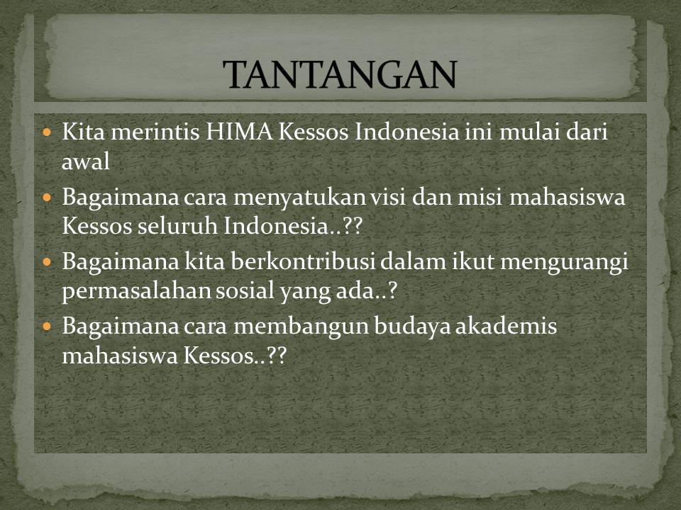 Kita merintis HIMA Kessos Indonesia ini mulai dari awal Bagaimana cara menyatukan visi dan misi mahasiswa Kessos seluruh Indonesia.. .