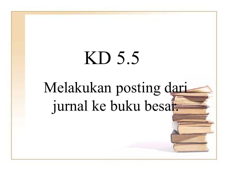 KD 5.5 Melakukan posting dari jurnal ke buku besar.