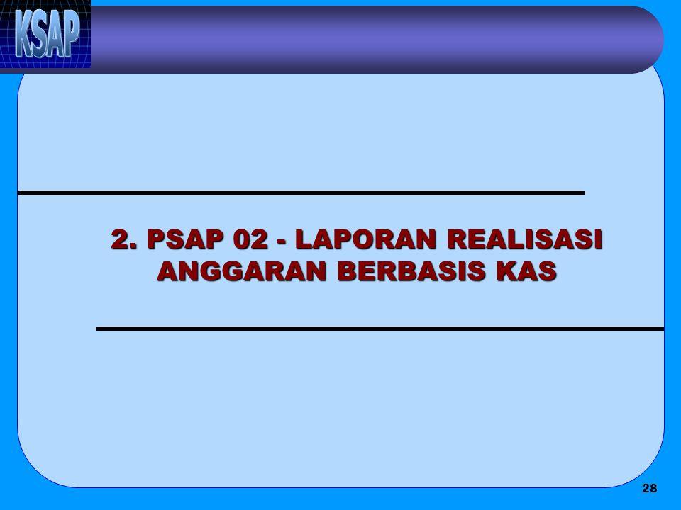 28 2. PSAP 02 - LAPORAN REALISASI ANGGARAN BERBASIS KAS