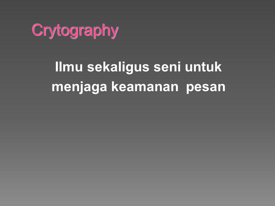 Kekuatan Algoritma Enkripsi dan Dekripsi Algoritma kriptografi dikatakan aman bila memenuhi tiga kriteria berikut:  Persamaan matematis yang menggambarkan operasi algoritma kriptografi sangat kompleks sehingga algoritma tidak mungkin dipecahkan secara analitik.