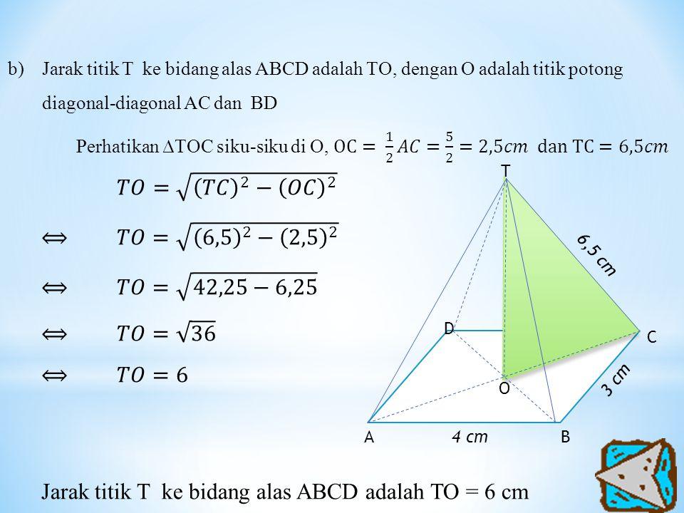 4 cmBA O D C T 3 cm 6,5 cm