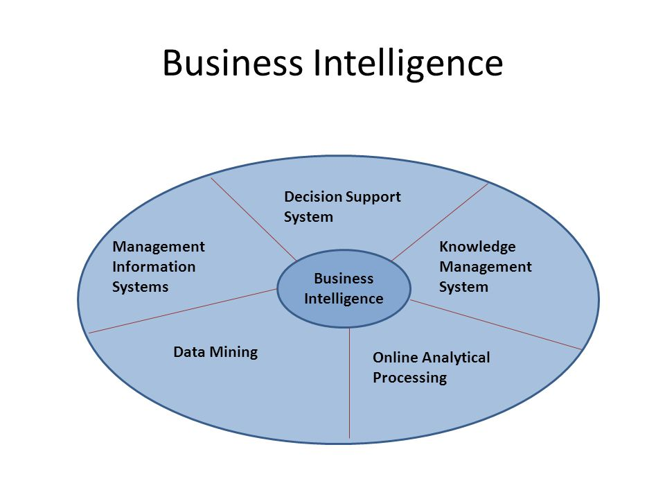 Business Intelligence Management Information Systems Decision Support System Data Mining Knowledge Management System Online Analytical Processing